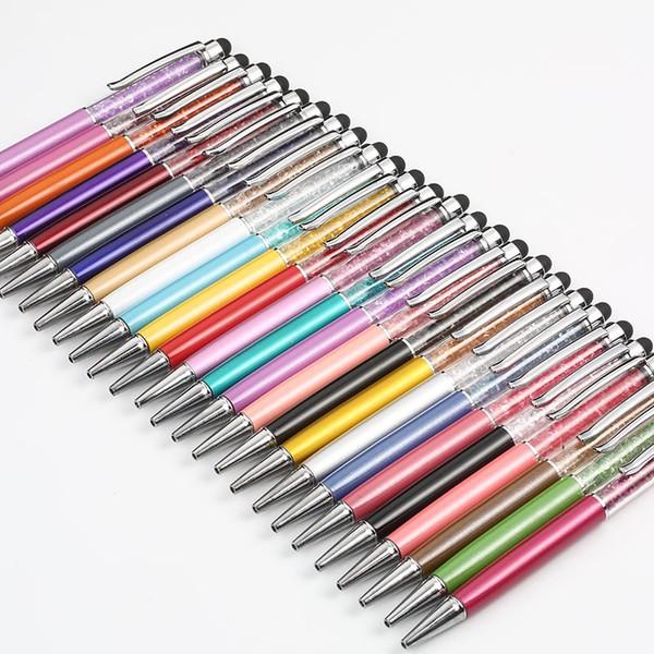 0.7mm Elmas Kristal Kalem dolma kalem tükenmez kalem Hediye Tükenmez Kalem Yenilik Rhinestone Kalemler 20 renk