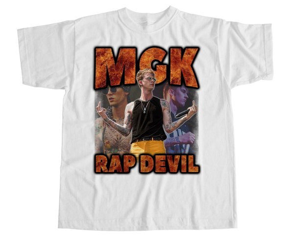 Machine Gun Kelly T-shirt MGK Kamikaze Tee Rap Eminem Music Devil HomageFunny free shipping Unisex Casual Tshirt