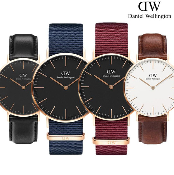 New men women dw daniel wellington watche 40mm men watche 36 women watche famou luxury quartz wri twatche relogio montre femme
