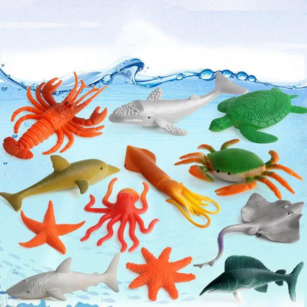 12Pcs Marine Ocean Creatures Sea Animals Figure Toys Kids Educational Gift Pcs Set Home SchoolMore Than Pcs/Set