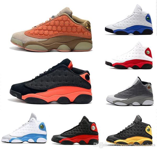 2019 XIII 13 s Atmosfer Gri Kap ve Kıyafeti 13 Erkekler Basketbol Ayakkabıları Phantom Siyah Kızılötesi Hiper Kraliyet Terracotta Allık Spor Sneaker 41-47