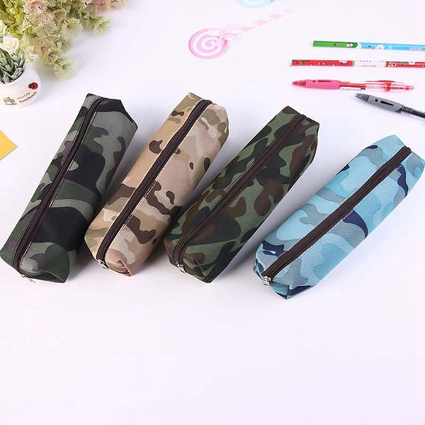Cotton Cloth Camouflage Pencil Bag Pencil Case Pen Box Pouch Organizers Gift Student Office School Stationery Supplies