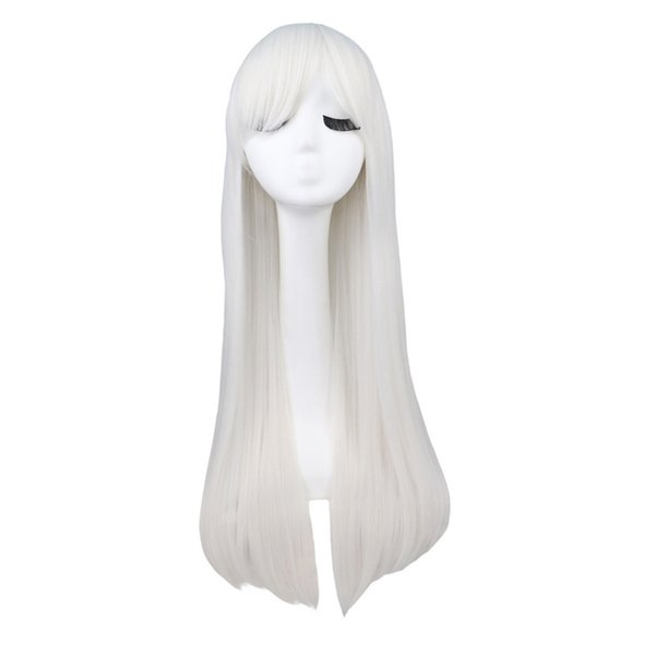 ynthetic Hair Synthetic Wigs(For Black) QQXCAIW Long Straight Cosplay Red Black Puprle Pink Blue Sliver Gray Blonde White Oragen Brown 80...