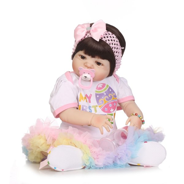 Doll Reborn Baby Girl Doll Full Silicone Body Lifelike Bebe Reborn Bonecas Handmade Baby Toy For Kids Christmas Gifts