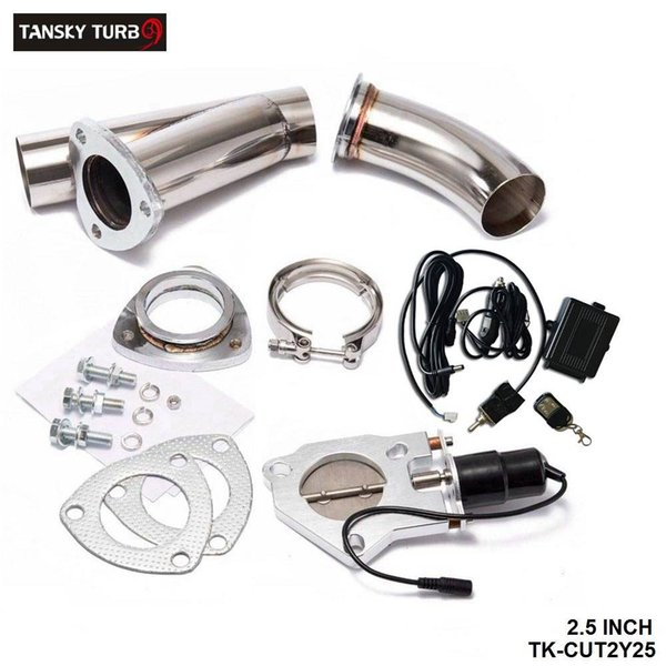 top popular TANSKY- EXHAUST 2.5 CUTOUT Cutout E-cutout W Switch  Remote  Switch+Remote Downpipe Cut out Valve System Kit 2021