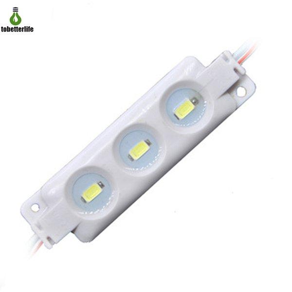 Modules LED Lumière 5630 Module d'injection à LED Blanc DC12v 3led Étanche Dur Bar Panneau Publicitaire Lumières shop banner