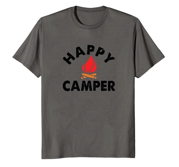 0762589e7e49 HAPPY CAMPER T-Shirt 100% Cotton Funny Camping Shirts Cool Vintage Tees Cool  xxxtentacion