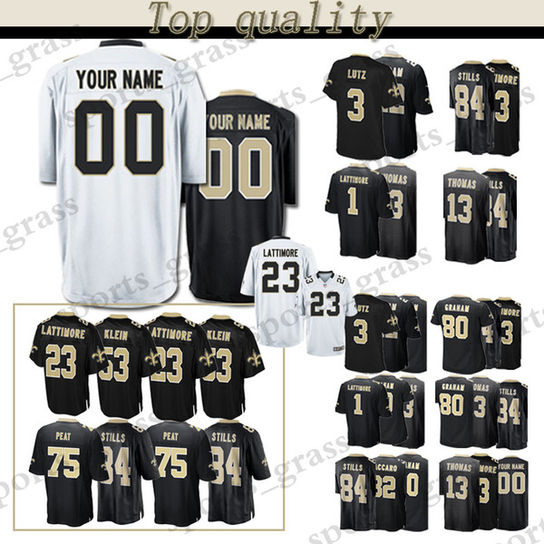 reputable site 6b2a2 56ced 2019 Custom Game New Orleans Saints Jersey 13 Michael Thomas 23 Marshon  Lattimore 84 Kenny Stills 80 Jimmy Graham 32 Kenny Vaccaro Jerseys Men From  ...