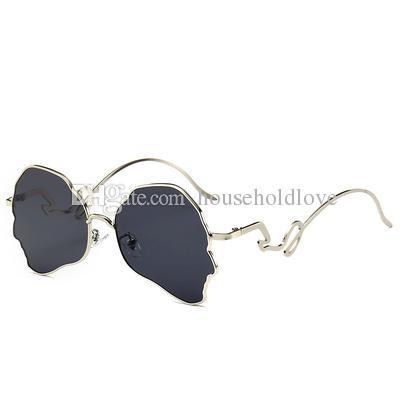 Silver frame black gray lens