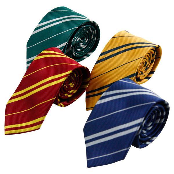 Полосатый Гарри Поттер галстук для мужчин галстуки школе Gryffindo Равенкло Хаффлпаффец Слизерин свадьбы случайные и бизнес шеи галстук