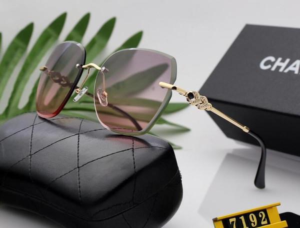gafas sin marco de las mujeres de gran tamaño gafas de sol gafas de sol de moda de los hombres cuadrados