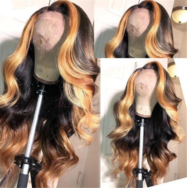 Highlight Blonde Brazilian Remy Human Hair Lace Front Wigs for Women With Baby Hair Ombre Full Lace Human Hair wig