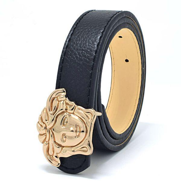 2019 Top quality PU childrens belts brand design children's waist belts for pants trousers Girls jeans belt metal buckle