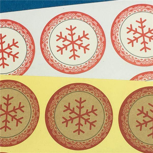 Schneeflocke Runde Durchmesser 3,5 cm Keine Kleber Aufkleber Papier selbstklebend Büttenpapier Aufkleber Für Dichtungskasten Fall Favor 500 Stücke