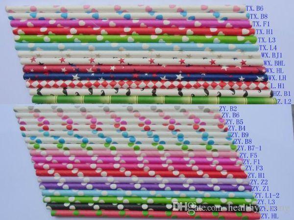 Colorful Paper Drinking Straws Birthday Wedding Decorative Party Event Hawaiian Holidays Luau Sticks KTV Supplies Creative Drinking Straws11
