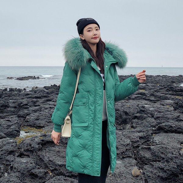 2019 New Arrival Fashion Women Winter Jacket Cotton Padded Warm Thicken Ladies Long Coats Big Fur Collar Parka Womens Jackets
