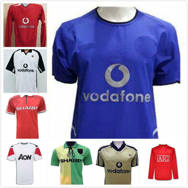 8c5bb1e95 2019 TOP 02 04old Shirts Classical Jersey 92 94 Away Green 98 99home Red  BECKHAM CANTONA Retro Jersey 08 Scholes G.Neville ANDY COLE HOME Jersey  From Ggg558 ...