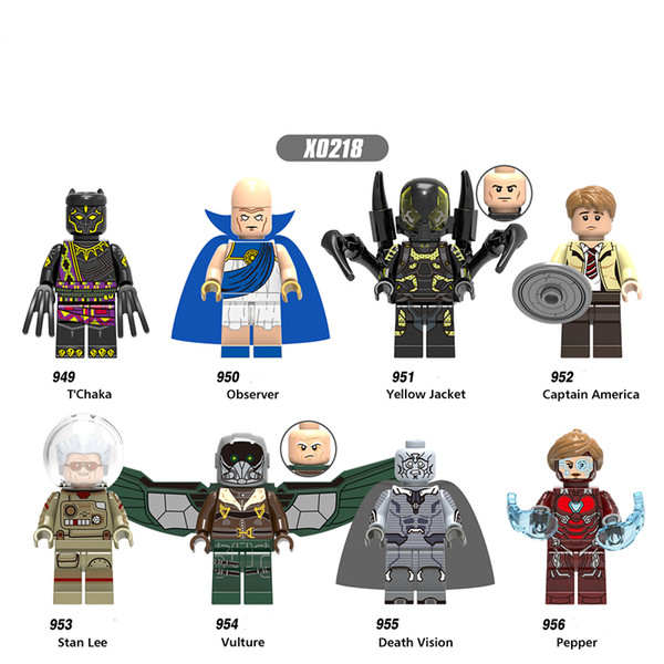X0218 Super Heroes Observer Yellow Jacket Captain America Vulture Figures Building Blocks Bricks Toys For Christmas Gifts