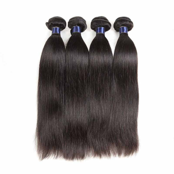 Brazilian Malaysian Virgin Human Hair Weaves Straight 4pcs/lot Malaysian Remy Human Hair Extension 4 Bundles Lot Cheap Hair Wefts Straight