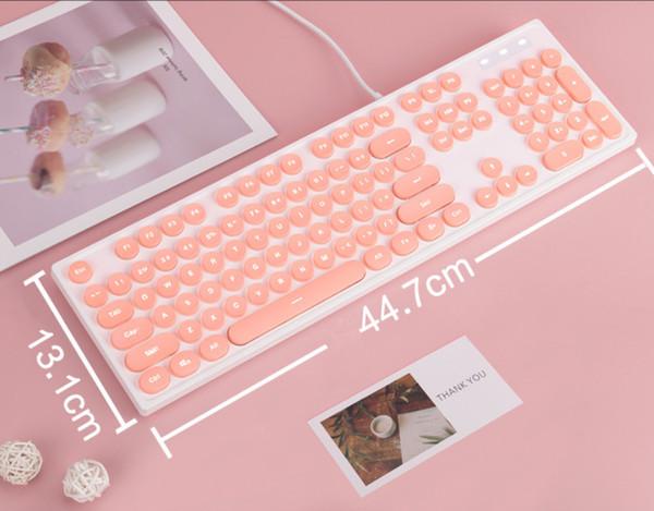 klavye (pembe + kablolu)