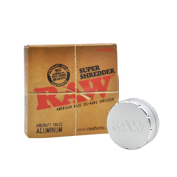 Wholesale CNC sliver brand RAW herb Grinders Metal Smoking Tobacco Grinder for Dry Herb free shipping