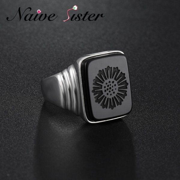 Top Quality Leonardo Dicaprio Ring The Great Gatsby Real 925 Sterling Silver Black Onyx Rings For Men Love Jewelry Wholesale J 190515