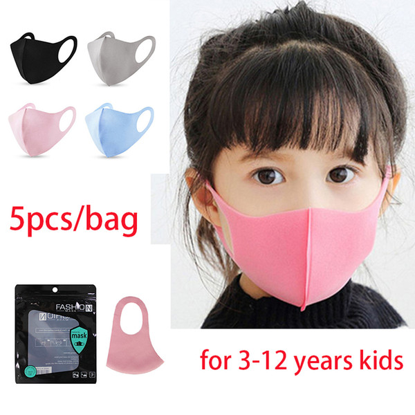 top popular 3-12 years kids black pink Face cover PM2.5 Mouth Masks Reusable Washable household protective mask boom2017 Party Masks 2020