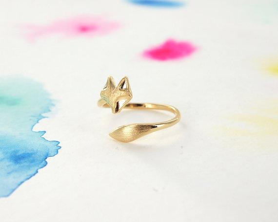 Cute pussy Adjustable Cat Ring Lovely Cat Tail Rings Simple Animal Kitty Rings for women Ladies Wedding lucky blessing jewelry