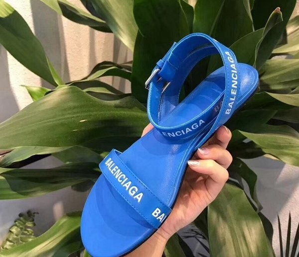 Fransız sıcak satmak kadın sandalet Süper marka tasarımcı sandalet düz strappy moda rahat en kaliteli iş BL24