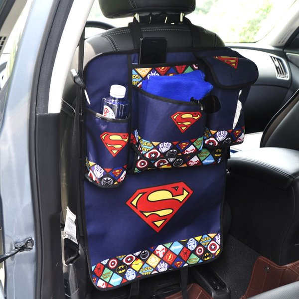 nterior Accessories Stowing Tidying Cartoon Car Seat Back Organizer Phone tissue book water storage bag backseat Protector Bags For Kids ...