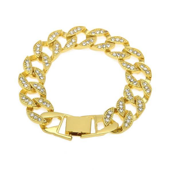 Braccialetti di lusso per uomo Bracciali di lusso per uomo di alta qualità in argento placcato oro con pendente a forma di ciondolo bracciale cubano con bracciali a maglie larghe