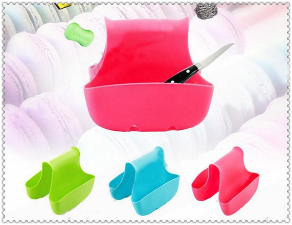 best selling NEW Selling Silicone Double Sink Caddy Saddle Style Kitchen Organizer Storage Sponge Holder Rack Tool Draining Rack Kitchen Tools