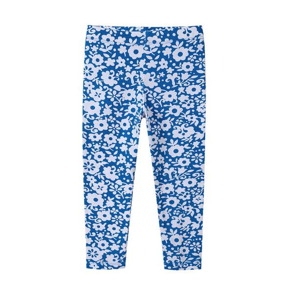 Çocuklar Kız Çiçek Tayt Çocuk Sıkı Pantolon Son Derece Elastik Çiçek Papatya Baskı Kız Çiçek Pantolon Elastik Bel 6