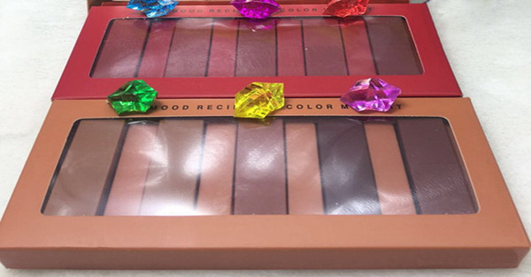 Nuevo kit de maquillaje de 5 piezas del lápiz labial mate Colección Color rojo y calabaza color de lápiz labial Kit de lápiz labial duradero