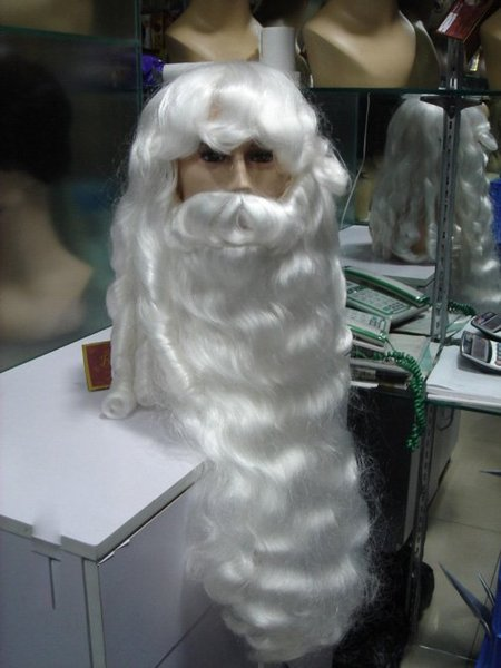 wholesale santa beards and hair Halloween wig Party SANTA CLAUS WHITE WIG & BEARD Anime queen Cosplay hair wigs Free deliver
