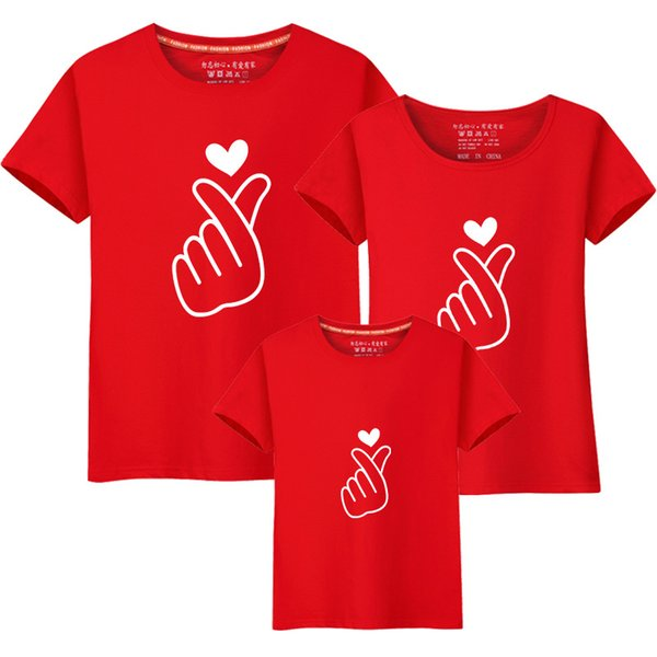 Parent-child wear t-shirt, father, mother, child, summer dress, short-sleeved T-shirt, a family of four mom and baby 417