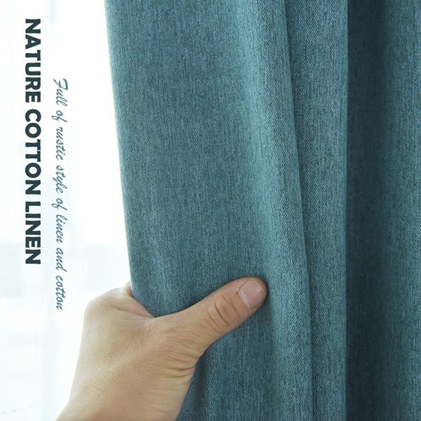 Fashion classic curtain, Simple atmosphere, Good opacity,Natural cotton and linen fabric and Health and safety fabric
