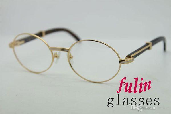 Marca Desinger- Metal Buffalo Eyeglasses Gafas unisex Vintage 7550178 Eyewear Black Natural horn Tamaño: 57-22-135mm con estuche