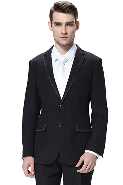 Men's Two Pieces Business Blazer Separate Suits Flat Front Pants Set Suit for Evening Party Groom Tuxedo Custom Made