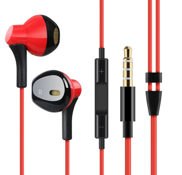 Novo fone de ouvido com fio, Noise Isolando Fones de Ouvido In-ear Headphone 3.5mm Sweatproof Esporte Fones De Ouvido com Microfone