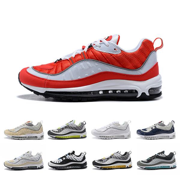 Novas Vendas Exclusivas ukTGT Men Running Shoes Clássico Branco Vermelho Marinha Verde Fluorescent Trainers Chaussures Designer Dos Homens Sneakers