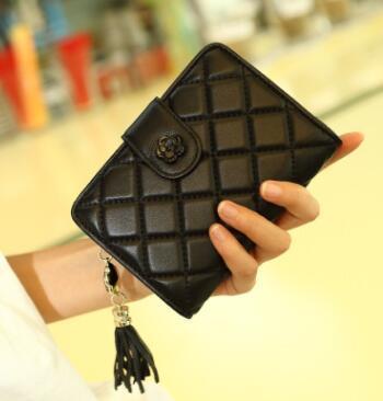 nuova moda donna in pelle di montone pelle Hasp Portafogli borse di alta qualità vendita calda