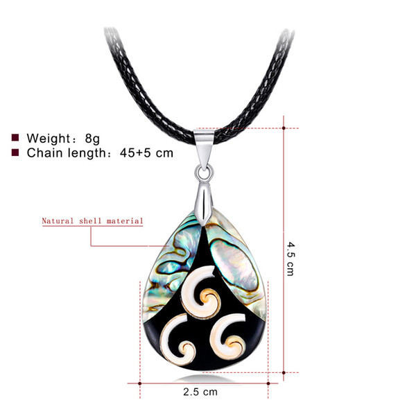 40+5cm Pearl Abalone Shell Necklace In Stock Factory Direct Unique Special Ladies Clavicle Stitching Color Pendants Wholesale Necklaces