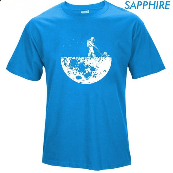 Луна футболки мужской творческий дизайн лето футболки повседневная уличная хлопок топы новые смешные футболки черный XZ-013