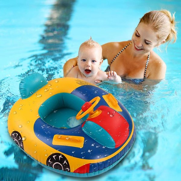 Inflatable swimming rings Cartoon Cars Seat PVC Swimming Ring Baby Toddler Inflatable Pool Float Funny Water Aid Trainer