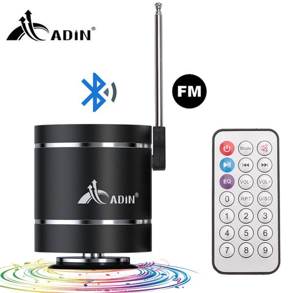 Adin 15W Bluetooth 4.0 Portátil Mini Vbration Speaker Audio Multimedia Radio FM Bass Bass Altavoz inalámbrico al aire libre para PC de la computadora