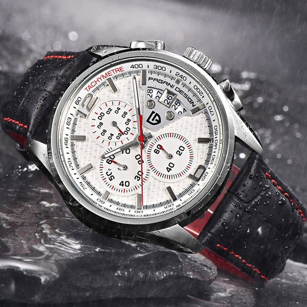 2019 New PAGANI DESIGN Watches Men Multifunction Quartz Chronograph Sport Diving Casual Watch Men Relogio Masculino