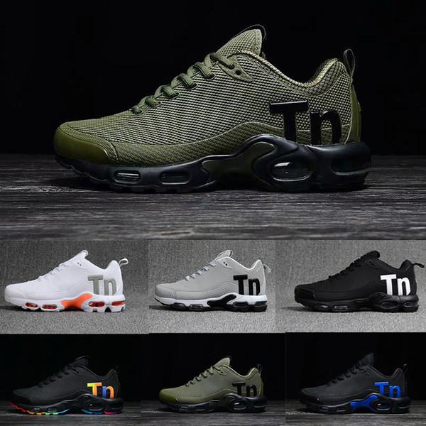 Acheter Nike Air Max Tn Plus Airmax Tns 2019 Tn Plus Hommes Femmes Mercurial Ultra SE Noir Blanc Orange Desinger Chaussures De Course Femmes Baskets