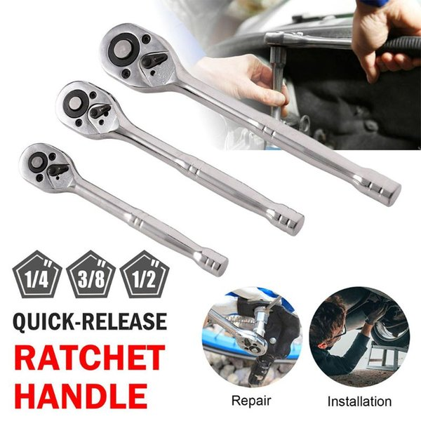 """best selling 1Pc Heany Duty Quick Relese Ratchet Handle Set 1 4"""" , 3 8"""" , 1 2"""" Heat Treated Carbon Steel C45"""