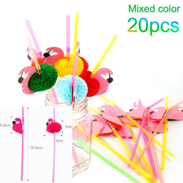 20pc Mixed Straws